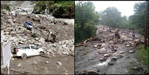 latest-uttarakhand-news: Cloudburst in govindghat badrinath highway 30 meter swept