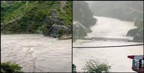 bridge destroyed after heavy rain in rudraprayag