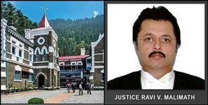 Ravi malimath Uttarakhand high court new chief justice