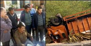 driver dies after overturning truck on almora-haldwani highway