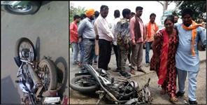 Father And Son Died In Road Accident At Gadarpur