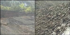 gangotri national highway land slide