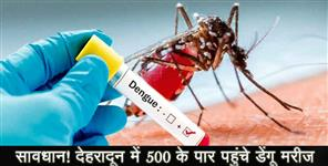 Number of dengue patients crossed 500 in dehradun