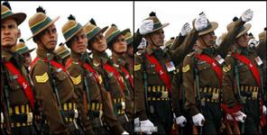garhwal rifle: GARHWAL RIFLE PASSING OUT PARADE LANCE DOWN
