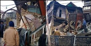 Mussoorie a part of hotel collapse on mall road