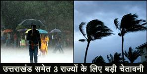 storm forcast for uttarakhand