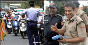 DEHRADUN First E-Challan On Bike Riding Without Number Plate