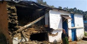 House destroyed due to rain in kursali village bageshwar