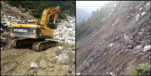 almora: Badrinath Highway closed in lambagar
