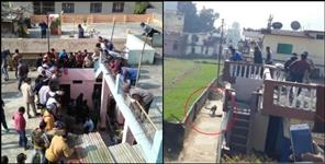 Leopard enters bathroom in Bageshwar