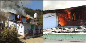 Fire in Nainital Out House