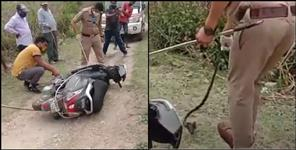 Cobra released from inside Scooty in Dehradun