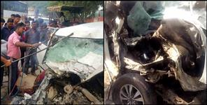 haridwar: Truck and innova accident in roorkee 3 people died