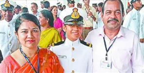 Sonali become Indian coast guard officer in navy
