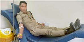 उत्तराखंड न्यूज: Rudraprayag police jawan blood donation saved women