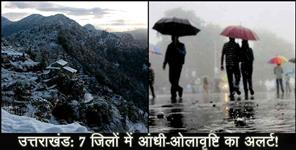 ut: Rain and thunderstorm forecast for uttarakhand