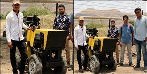 Shreelesh maday made tractor in iim kashipur uttarakhand