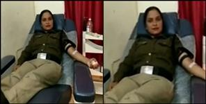 Female police personnel saved life by giving blood to pregnant woman