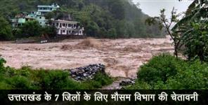 गंगोत्री: Uttarakhand seven district on alert