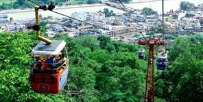 Mansa and chandi devi ropeway closed