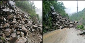 Landslides caused by heavy rains in Pithoragarh