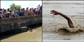 Woman jumps into Gangahar in Haridwar