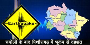 Earthquake tremor in pithoragarh