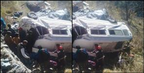 Vehicle of pilgrims fell into ditch, four injured