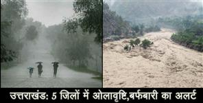 hailstrom alert for five district in uttarakhand