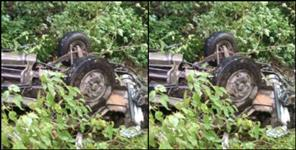 latest uttarakhand news: car fall in ditch in rudraprayag