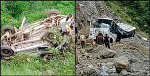 गढ़वाल: TWO ROAD ACCIDENT IN UTTARAKHAND 14 PEOPLE DIED