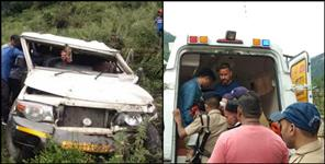 Accident in gangotri highway, one died and 5 injured