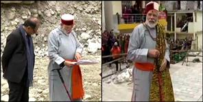 om modi in kedarnath visit