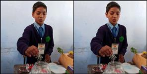 Eighth class student made option of polythene