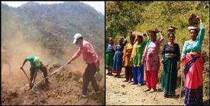 Villagers built road in Pauri Garhwal
