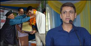 uttarakhand: dm mangesh ghildiyal felicitated