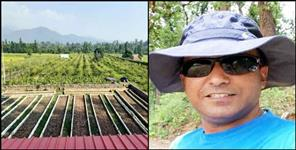almora: Himanshu joshi made a career in organic farming by quitting his foreign job