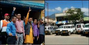 uttarkashi: Private vehicle operators on strike in Uttarakhand