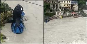 Alaknanda river water level rises in Rudraprayag