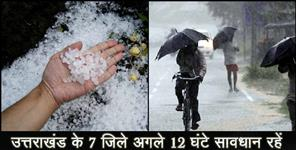 चमोली: Rain and hailstorm forecast uttarakhand