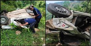 Car fell into a ditch in Bageshwar