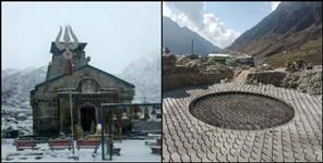 rudraprayag: Construction is going on in kedarnath even in winter