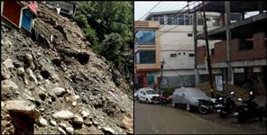 Heavy rain and landslide in pithoragarh