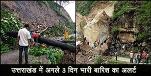 राष्ट्रीय: Met department alert for uttarakhand next three days