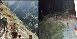 rock fall from mountain in kedarnath highway many died
