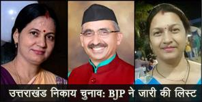bjp list final for local body election in uttarakhand