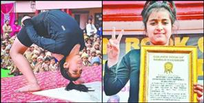 11 year old creates world record riya Paladia gymnast