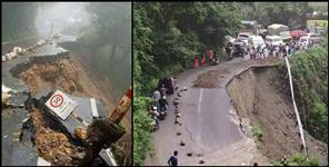 Dehradun Mussoorie route damaged
