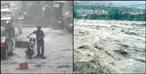 uttarkashi: Heavy rain fall in uttarkashi