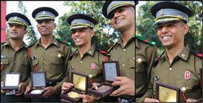 Uttarakhand cadet won three medals in acc cadets graduation ceremony